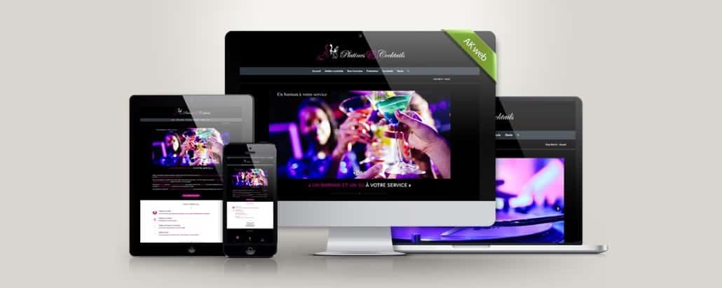 Akweb créateur de site web, Platines et Cocktails
